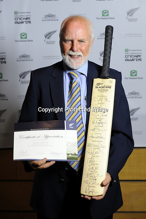 Certificate of Appreciation for Parnell cricket club, 2011 National Bank Cricket Awards held at the Auckland War Memorial Museum in Auckland, New Zealand on Thursday 10 November 2011. Photo: Andrew Cornaga / photosport.co.nz