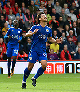 Shinji Okazaki (20) of Leicester City looks upset after he misses his chance to score a goal during the Premier League match between Bournemouth and Leicester City at the Vitality Stadium, Bournemouth, England on 30 September 2017. Photo by Graham Hunt.