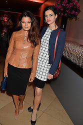 Left to right, BIP LING and her sister EVANGELINE LING at a private view of photographs by David Bailey entitled 'Bailey's Stardust' at the National Portrait Gallery, St.Martin's Place, London on 3rd February 2014.