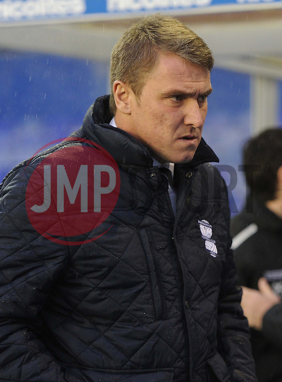 Birmingham City Manager, Lee Clark  - Photo mandatory by-line: Alex James/JMP - Tel: Mobile: 07966 386802 25/01/2014 - SPORT - FOOTBALL - St Andrew's - Birmingham - Birmingham City v Swansea City - FA Cup - Forth Round