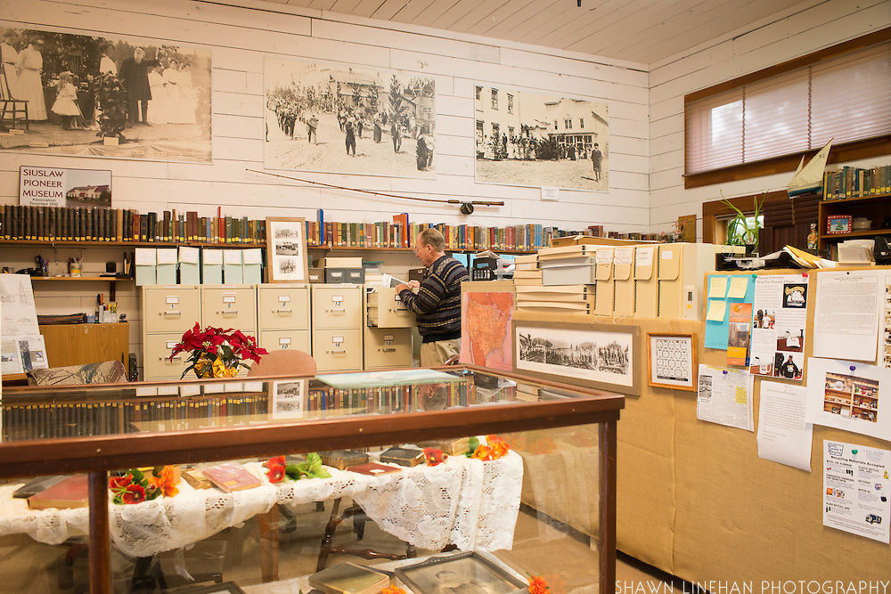 The museum has a research library filled with documents to help current families find distant relatives who were from the Siuslaw area.
