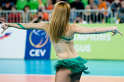 Cheerleaders during volleyball match between ACH Volley (SLO) and Zenit Kazan (RUS) in Playoffs 12 Round of 2011 CEV Champions League, on February 2, 2011 in Arena Stozice, Ljubljana, Slovenia. (Photo By Matic Klansek Velej / Sportida.com)