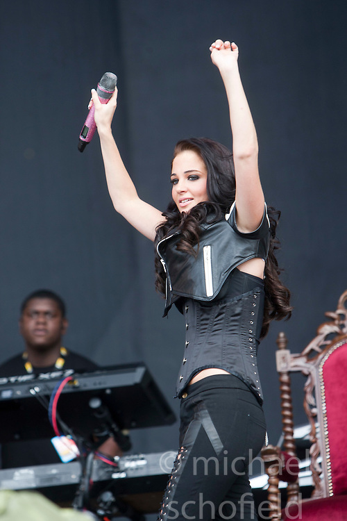 "Tula ""Tulisa"" Contostavlos of N-Dubz play the main stage..T in the Park on Saturday 9th July 2011. T in the Park 2011 music festival takes place from 7-10th July 2011 in Balado, Fife, Scotland..©Pic : Michael Schofield."
