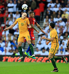 Aaron Mooy of Australia challenges Jack Wilshere of England  - Mandatory by-line: Matt McNulty/JMP - 27/05/2016 - FOOTBALL - Stadium of Light - Sunderland, United Kingdom - England v Australia - International Friendly