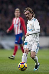 November 18, 2017 - Madrid, Madrid, Spain - Modric during the match between Atletico de Madrid and Real Madrid, week 12 of La Liga at Wanda Metropolitano stadium, Madrid, SPAIN - 18th November of 2017. (Credit Image: © Jose Breton/NurPhoto via ZUMA Press)