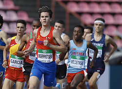 July 10, 2018 - Tampere, Suomi Finland - 180710 Friidrott, Junior-VM, Dag 1: Jakob Ingebrigtsen NOR competes in 1500m during the IAAF World U20 Championships day 1 at the Ratina stadion 10. July 2018 in Tampere, Finland  (Credit Image: © Kalle Parkkinen/Bildbyran via ZUMA Press)