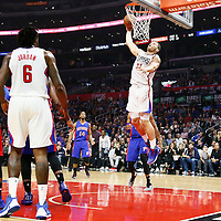 07 November 2016: Los Angeles Clippers forward Blake Griffin (32) goes for the dunk during the LA Clippers 114-82 victory over the Detroit Pistons, at the Staples Center, Los Angeles, California, USA.