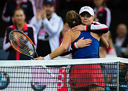 November 10, 2018 - Prague, Czech Republic - Barbora Strycova of the Czech Republic hugs Kathy Rinaldi at the 2018 Fed Cup Final between the Czech Republic and the United States of America (Credit Image: © AFP7 via ZUMA Wire)