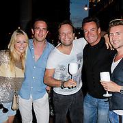 NLD/Amsterdam/20120706 - Verjaardagsfeest Gordon, Chantal Janzen en partner Marco Geeratz, Gerard Joling, Carlo Boszhard en partner Herald Adolfs