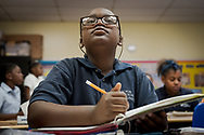 Jude Francois, a 4th grade student, works in his classroom at  Holy Cross Lutheran Church and School, North Miami, on Wednesday, April 11, 2018. LCMS Communications/Erik M. Lunsford