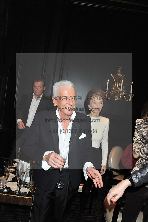 NICKY HASLAM and PRINCESS LEE RADZIWILL at an evening of Cabaret by Nicky Haslam held in the Beaufort Bar, The Ritz, London on 11th December 2011.