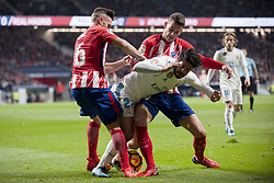 November 18, 2017 - Madrid, Madrid, Spain - Koke, Isco, Lucas during the match between Atletico de Madrid and Real Madrid, week 12 of La Liga at Wanda Metropolitano stadium, Madrid, SPAIN - 18th November of 2017. (Credit Image: © Jose Breton/NurPhoto via ZUMA Press)
