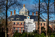 moving truck in from of the new house odf King Willem Alexander adn Queen MAxima The Hague Palace Huis ten Bosch in The Hague, the new residence to be of the Dutch King and Queen in 2019.  ROBIN UTRECHT