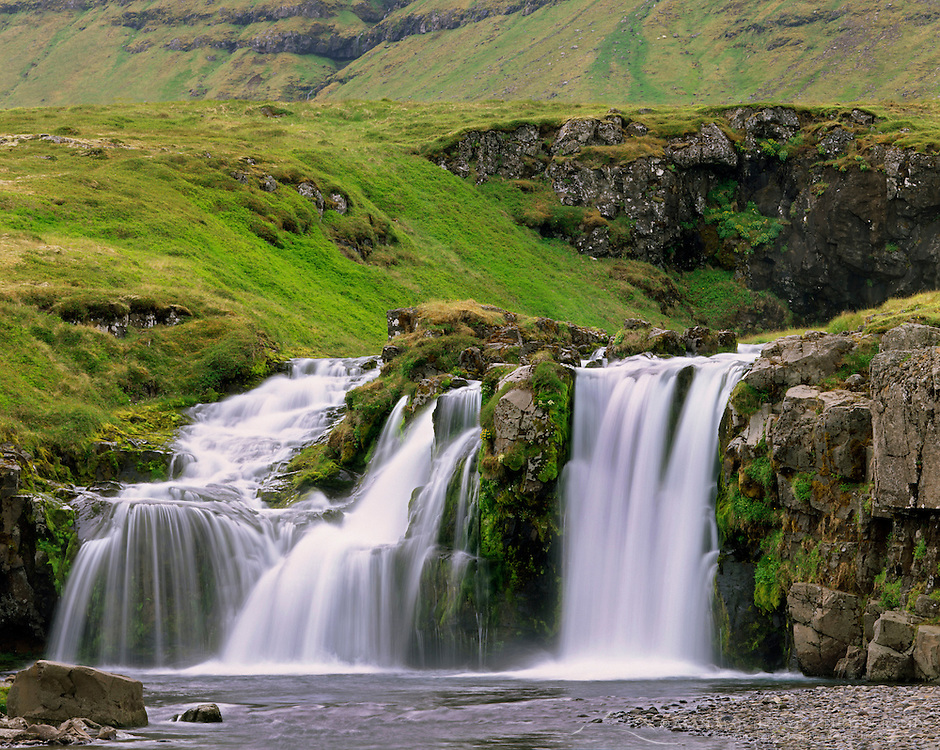 Waterfall on the Snæfellsnes Peninsula Iceland, Europe