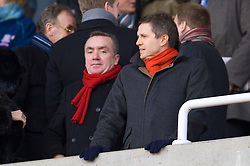 STOKE, ENGLAND - Saturday, January 16, 2010: Liverpool's managing director Christian Purslow and commercial director Ian Ayre during the Premiership match at the Britannia Stadium. (Photo by David Rawcliffe/Propaganda)