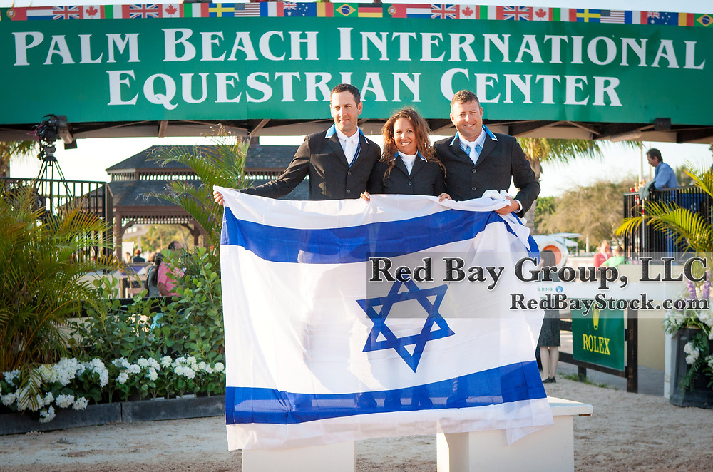 Israeli Team at the 2014 Furusiyya FEI Nations Cup held during the Winter Equestrian Festival in Wellington, Florida.