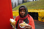 Belgium, Sunday 13th December 2015: Hot dog with frites and mayonnaise is popular at the Hansgrohe Superprestige cyclocross races at Spa Francorchamps.<br />