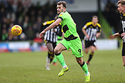 Forest Green Rovers Christian Doidge(9) on the ball during the EFL Sky Bet League 2 match between Forest Green Rovers and Notts County at the New Lawn, Forest Green, United Kingdom on 9 February 2019.