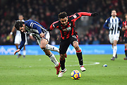 Joshua King (17) of AFC Bournemouth clashes with Claudio Yacob (5) of West Bromwich Albion while on the attack during the Premier League match between Bournemouth and West Bromwich Albion at the Vitality Stadium, Bournemouth, England on 17 March 2018. Picture by Graham Hunt.
