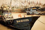 Chinese fishing boat at dock