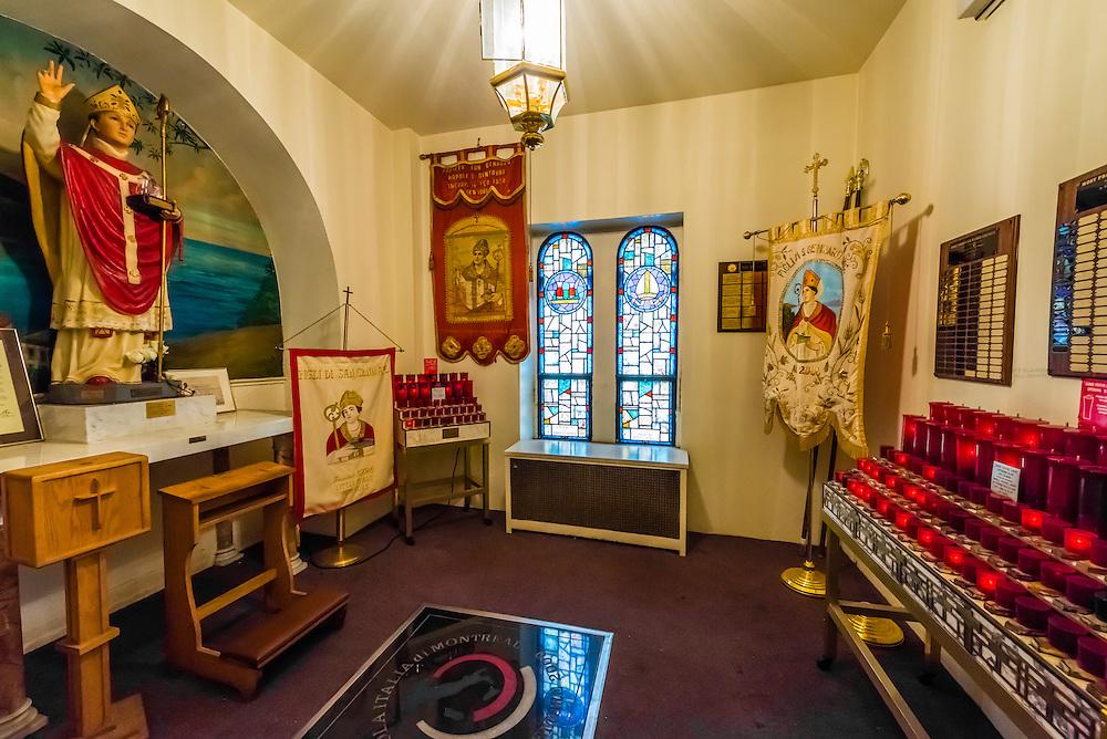 San Gennaro Shrine, National Shrine Church of San Gennaro,  Church of the Most Precious Blood, New York, New York USA.