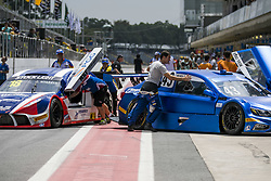 March 9, 2018 - Sao Paulo, Sao Paulo, Brazil - Mar, 2018 - Qualifying training for the pair stage of the Stock Car 2018, at the Autodromo de Interlagos, in São Paulo, this Friday (9). The pilots DANIEL SERRA and JOÃO PAULO OLIVEIRA of the team EUROFARMA-RC were in pole position. (Credit Image: © Marcelo Chello via ZUMA Wire)