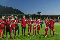 29.04.2016, Franz Fekete Stadion, Kapfenberg, AUT, 2. FBL, KSV 1919 vs SC Wiener Neustadt, 31. Runde, im Bild das Team von KSV 1919 nach dem Sieg gegen Sc Wiener Neustadt // during the Austrian Erste Liga Match, 31th Round, between KSV 1919 and SC Wiener Neustadt at the Franz Fekete Stadium, Kapfenberg, Austria on 2016/04/29, EXPA Pictures © 2016, PhotoCredit: EXPA/ Dominik Angerer