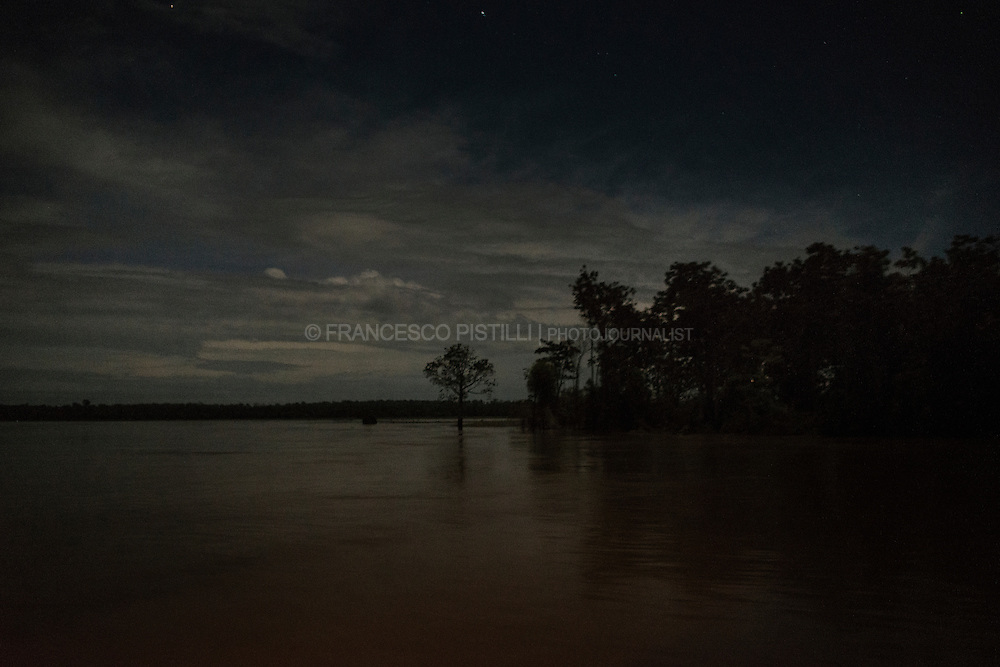 The Andira river by night. The Satere-Mawe live in the region of the mid Amazon River, on the border between Brazil's two biggest states Amazonas and Para.