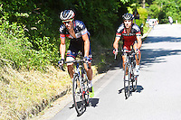Sylvain Chavanel - Iam / Philippe Gilbert - Bmc - 28.05.2015 - Tour d'Italie - Etape 18 : Melide / Verbania <br />Photo : Pool / Sirotti / Icon Sport