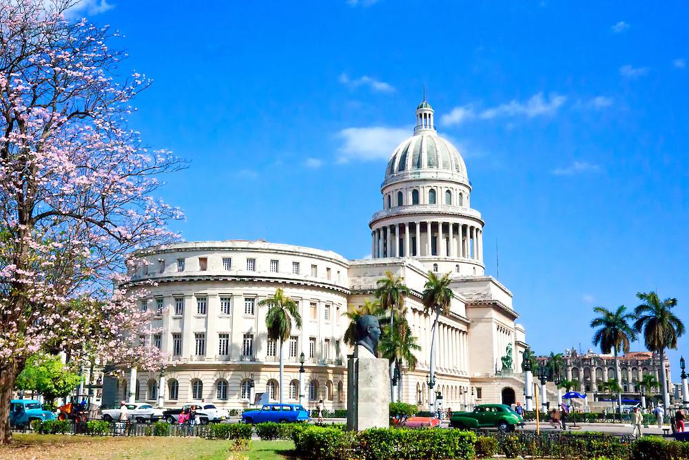 The Capitolio Building, Havana Vieja, Cuba.