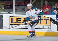 KELOWNA, CANADA - SEPTEMBER 3: Kaedan Korczac #2 of Kelowna Rockets skates against the Victoria Royals on September 3, 2016 at Prospera Place in Kelowna, British Columbia, Canada.  (Photo by Marissa Baecker/Shoot the Breeze)  *** Local Caption *** Kaedan Korczac;