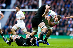 Sam Underhill of England is tackled - Mandatory by-line: Robbie Stephenson/JMP - 10/11/2018 - RUGBY - Twickenham Stadium - London, England - England v New Zealand - Quilter Internationals