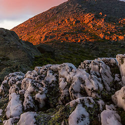 Sunset light on Mount Madison in New Hampshire's White Mountains.