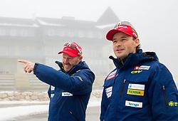 Uros Velepec and Matej Oblak during media day of Slovenian biathlon team before new season 2013/14 on November 14, 2013 in Rudno polje, Pokljuka, Slovenia. Photo by Vid Ponikvar / Sportida
