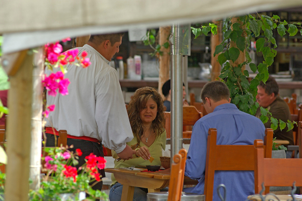 Restaurant at Plaza del Pasado, Old Town San Diego State Historic Park, San Diego, California, United States of America