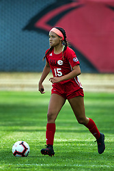 NORMAL, IL - August 10:  Alexis Royal during a nonconference exhibition women's soccer match between the Southern Illinois Edwardsville Cougars and the Illinois State Redbirds August 10 2019 on Adelaide Street Field in Normal IL (Photo by Alan Look)