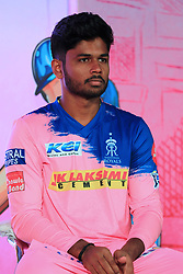 March 22, 2019 - Jaipur, Rajasthan, India - Rajasthan Royals player Sanju Samson addressing the media person during the team jersey unveiled ceremony ahead the IPL 2019 matches  in Jaipur, Rajasthan, India  on March 22,2019. (Credit Image: © Vishal Bhatnagar/NurPhoto via ZUMA Press)