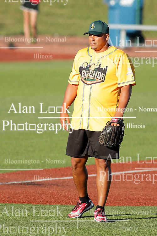 29 July 2017: Carlos Zambrano - Legends Baseball game sponsored by the Normal CornBelters at Corn Crib Stadium on the campus of Heartland Community College in Normal Illinois