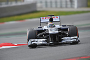 February 19, 2013 - Barcelona Spain. Pastor Maldonado, Williams F1 Team  during pre-season testing from Circuit de Catalunya.