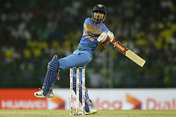 March 6, 2018 - Colombo, Sri Lanka - Indian cricketer Manish Pandey plays a shot during the 1st T20 cricket match of NIDAHAS Trophy between Sri Lanka and India at R Premadasa cricket ground, Colombo, Sri Lanka on Tuesday 6 March 2018  (Credit Image: © Tharaka Basnayaka/NurPhoto via ZUMA Press)
