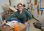 mkb121417z/metro/Marla Brose -- Sheri Crider, who works in her own studio, is the owner of Sanitary Tortilla Factory, in Albuquerque, N.M. (Marla Brose/Albuquerque Journal)
