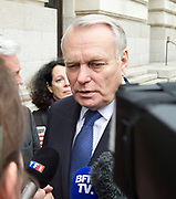 Jean-Marc Ayrault<br /> Minister of Foreign Affairs and International Development<br /> French Government leaving the County Hall Hotel, Southbank, London, Great Britain <br /> 23rd March 2017 <br /> <br /> Jean-Marc Ayrault<br /> <br /> <br /> Photograph by Elliott Franks <br /> Image licensed to Elliott Franks Photography Services