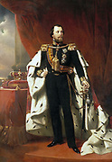 Portrait of King Willem III of the Netherlands, Nicolaas Pieneman (1856)