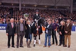 Hanzon Theo (NED) - IPS Andretti<br /> Eigenaar: IPS Horse Group - Van Uytert Joop<br /> Fokker: De Kreij<br /> KWPN Hengstenkeuring 's Hertogenbosch 2010<br /> © Dirk Caremans