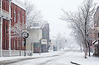Winter Snowstorm in Downtown Flagstaff, Arizona