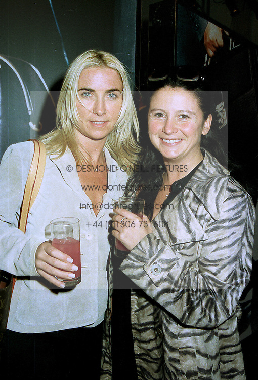 Left to right, MRS NOEL GALLAGHER wife of the musician from Oasis and MISS FRANCESCA CUTLER at a party in London on 15th July 1997.MAG 8