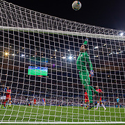 PARIS, FRANCE - September 10:  Goalkeeper Josep Gómes #1 of Andorra watches a shot go over the bar during the France V Andorra, UEFA European Championship 2020 Qualifying match at Stade de France on September 10th 2019 in Paris, France (Photo by Tim Clayton/Corbis via Getty Images)