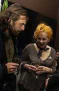 Andreas Kronthaler and Vivienne Westwood. First night party for High Society. Shanghai Blues. High Holborn.  October 10 2005. ONE TIME USE ONLY - DO NOT ARCHIVE © Copyright Photograph by Dafydd Jones 66 Stockwell Park Rd. London SW9 0DA Tel 020 7733 0108 www.dafjones.com