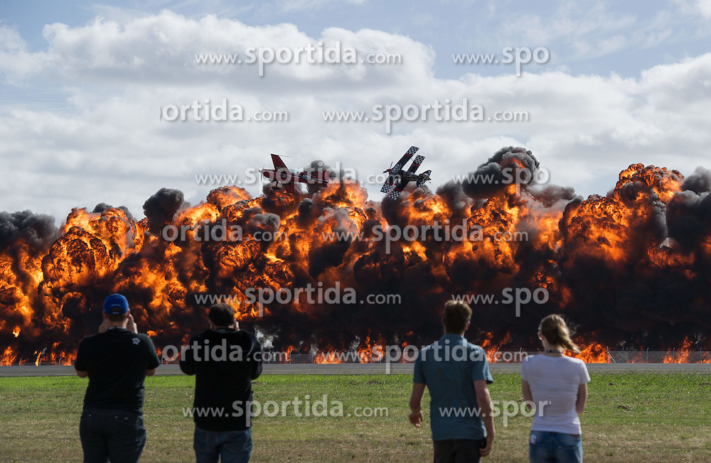 Aerobatic pilots perform at the Australian International Airshow on the Industry Expo day at the Avalon Airfield, southwest of Melbourne, Australia, Feb. 24, 2015. EXPA Pictures &copy; 2015, PhotoCredit: EXPA/ Photoshot/ Bai Xue<br /> <br /> *****ATTENTION - for AUT, SLO, CRO, SRB, BIH, MAZ only*****