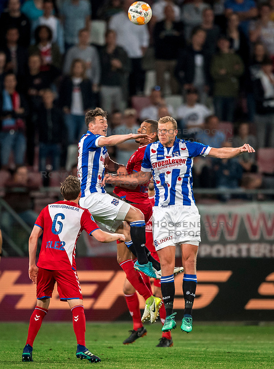 12-05-2018 NED: FC Utrecht - Heerenveen, Utrecht<br /> FC Utrecht win second match play off with 2-1 against Heerenveen and goes to the final play off / Ramon Leeuwin #3 of FC Utrecht, Henk Veerman #20 of SC Heerenveen